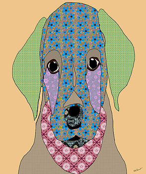 Kate Farrant - Labrador Puppy Digital Art