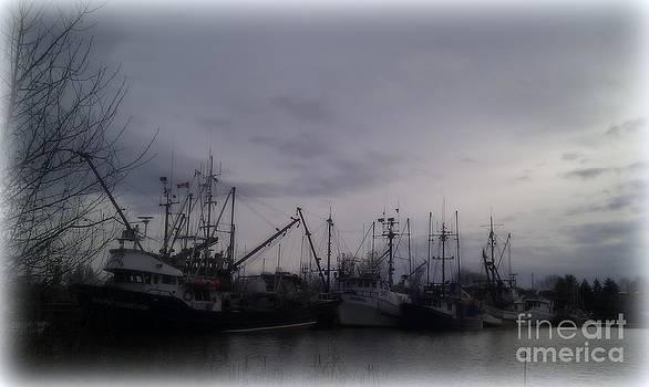 Ladner Harbour in Winter by Victoria Heryet
