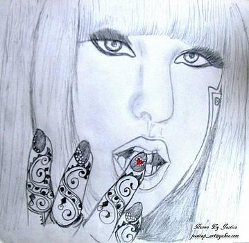 Lady Gaga Henna by Jessica Petty
