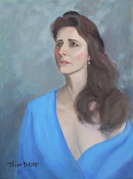 Lady in Blue by Trish Bilich