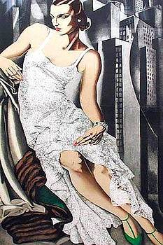 Lady in Lace by Tamara Lempicka