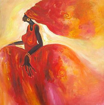Lady in Red by Enoch Mukiibi