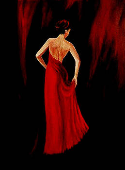 Lady in Red by Indira Mukherji
