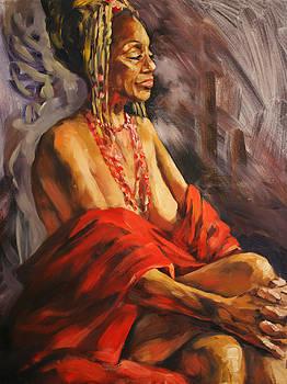 Lady in Red by Olusha Permiakoff