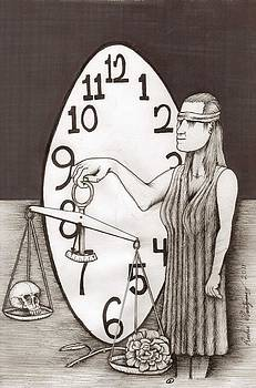Lady Justice and the Handless Clock by Richie Montgomery
