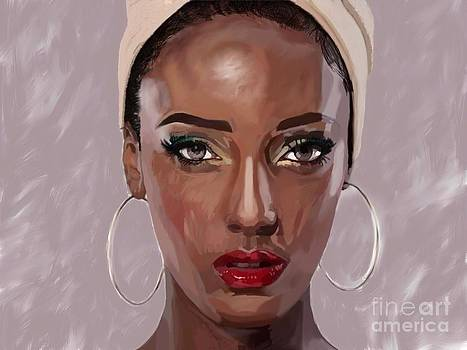 Lady With Beautiful Eyes by Joe Roache
