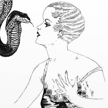 Lady with Snake by Heather Pecoraro