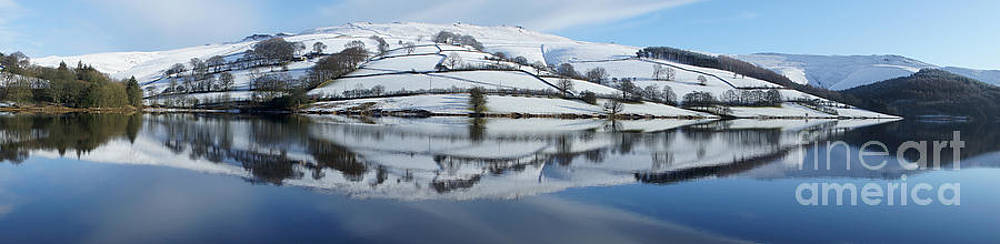 Ladybower Winter Panorama by David Birchall