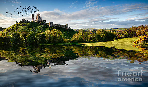 Lake and hill with ruin landscape by Simon Bratt Photography LRPS