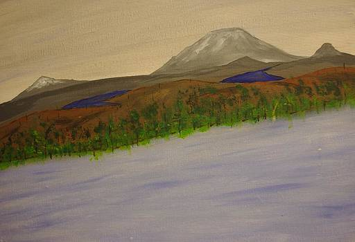 Lake and Mountains by Keith Nichols