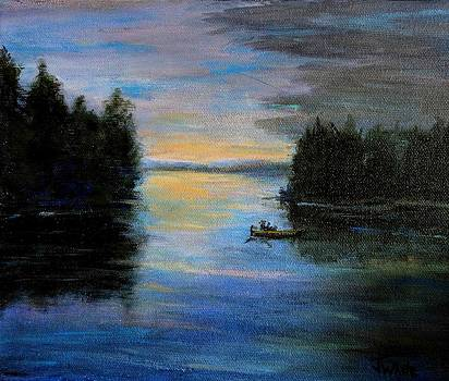 Lake at Dusk by Judie White