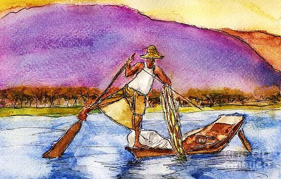 Lake Burma Fisherman by Randy Sprout