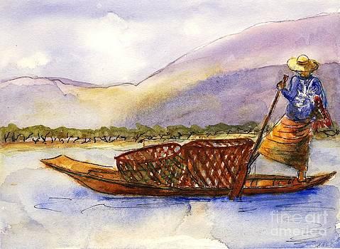 Lake Burma Fisherwoman by Randy Sprout