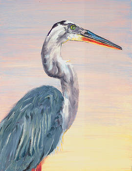 Lake Heron Heron by Peter Bonk