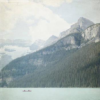 Lake Louise Solitude - Alberta Canada - Square by Lisa Parrish