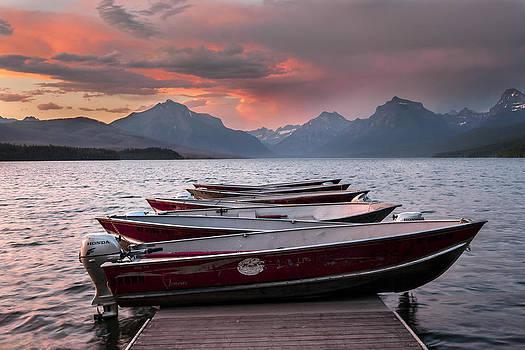 Lake Mc Donald Boats by David  Forster