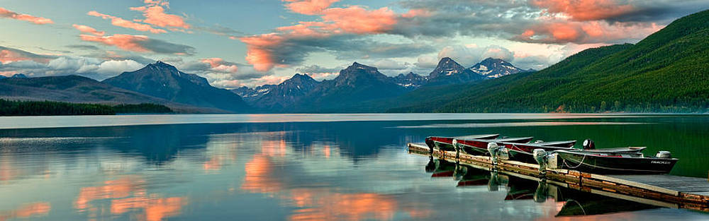 Lake Mc Donald Sunset by David  Forster
