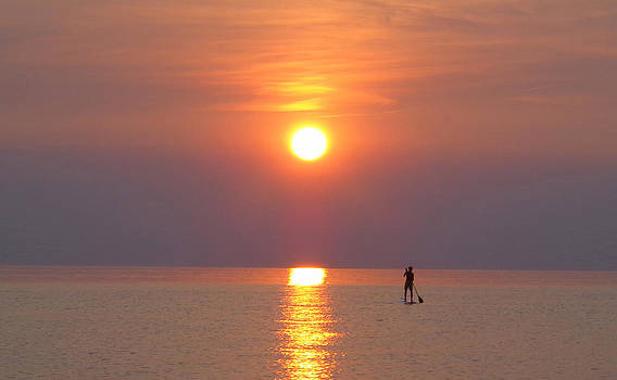 Lake Michigan Sunset 2 by Delaney McCafferty