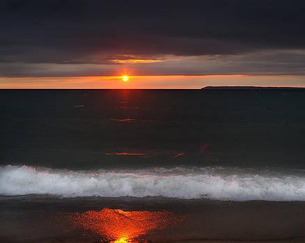 Lake Michigan Sunset by Jamieson Brown
