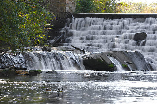 Lake Newport Waterfalls by Jim Wilcox
