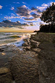 Lake Ontario Sunset by Fred J Lord