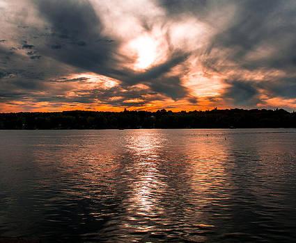 Lake Sunset by John Baumgartner