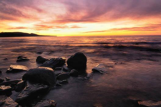 Lake Superior Sunset by Sarah Rodefeld