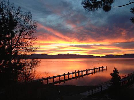 Lake Tahoe Morning Docks by Heather Lavoie