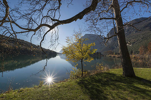 Lake Toblino in Trentino of  Italy by Ayhan Altun