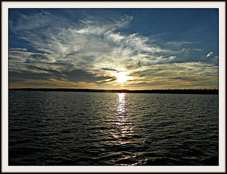 lake Tomiko Sunset by Dianne  Lacourciere