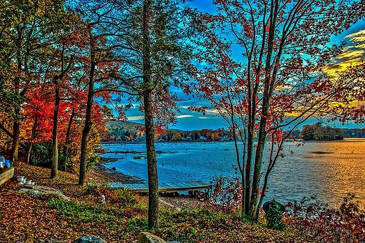 Lakeside In Autumn by Mark Cranston