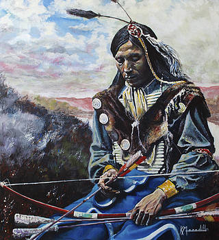 Lakota Sioux Warrior by Kevin Meredith
