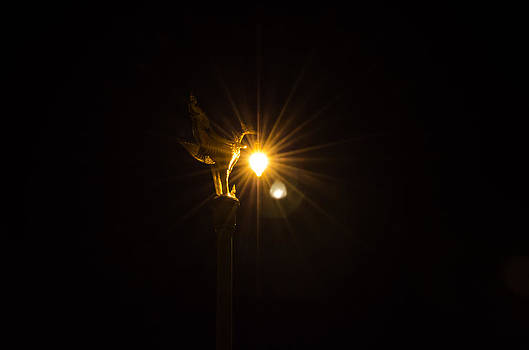 Lamp at night by Suntasit Fhakthap