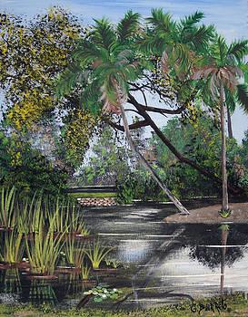 Landscape at Bok Tower by Gloria E Barreto-Rodriguez