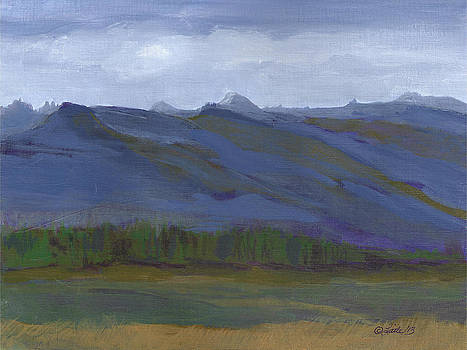 Landscape Blue Green by Pam Little