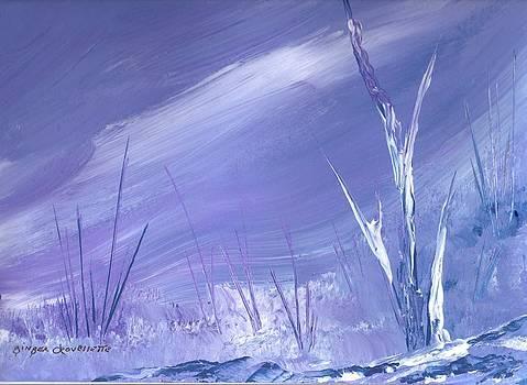 Landscape de Lavender by Ginger Lovellette