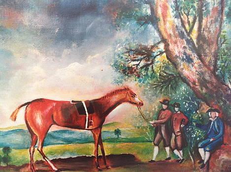 Landscape with a horse by Egidio Graziani