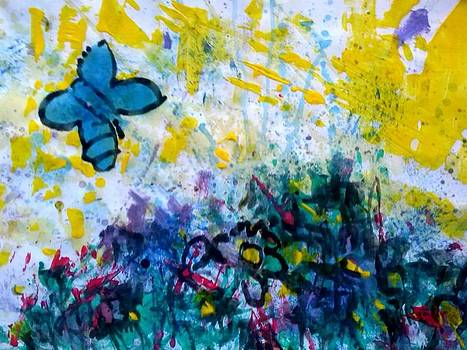 Landscape with butterfly by Vitor Frias Martins