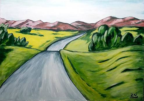 Zeke Nord - Landscape with road