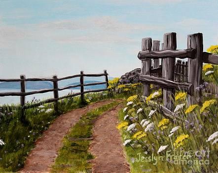 Lane at Highland Village by Jesslyn Fraser