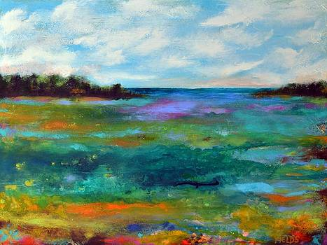 Large Original Painting BAY VIEW by Karen Fields
