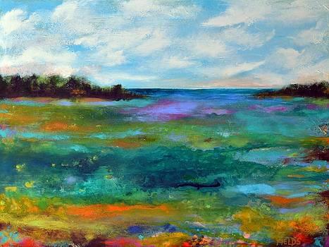 Large Original Painting BAY VIEW by Karen Fields