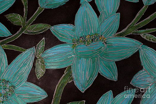 Larger Blue Flowers by Cynthia Snyder
