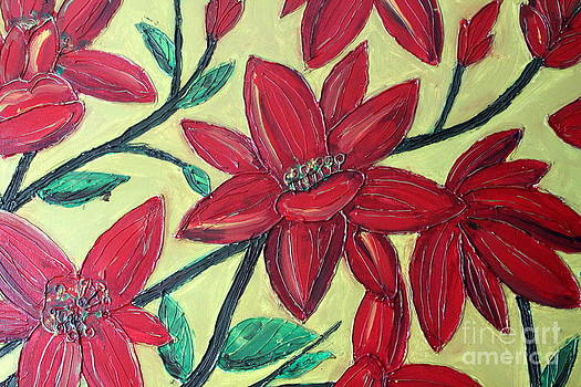 Larger Red Flowers by Cynthia Snyder