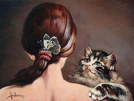 Last game of butterflies by Dusan Vukovic