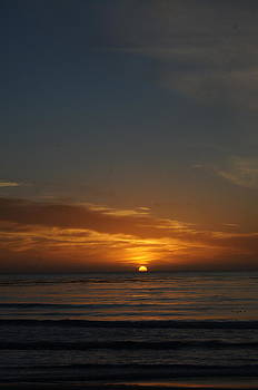 Last Light at Carmel Beach by Colleen Renshaw
