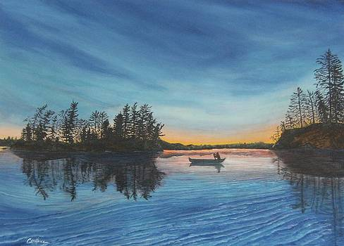 Late Evening Paddle by Connie Rowsell