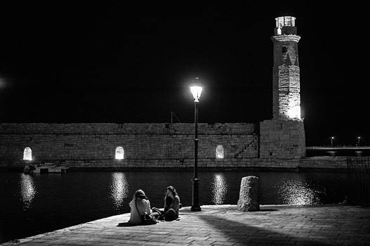 Late night boy talk by Spyros Papaspyropoulos