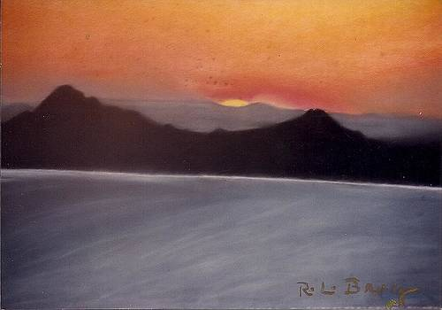 Late sunset by Robert Bray