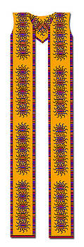 Latin American Cotton Clergy Stole by Julie Rodriguez Jones